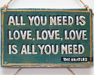 «All you need is love» №016 Sign №016