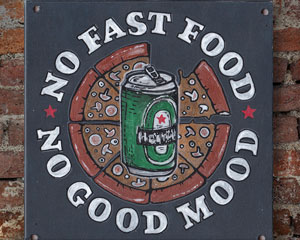 «No Fast Food — No Good Mood» Табличка №094 / Sign №094
