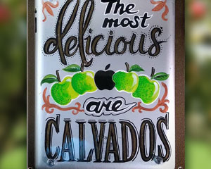 «The Most Delicious Apples are Calvados» №170 / Sign №170