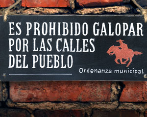«Es prohibido gallopar» №182 / Sign №182